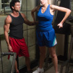Man And Woman Exercising 12 — Stock Photo