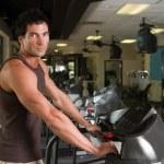 Man Exercising On Treadmill 4 — Stock Photo