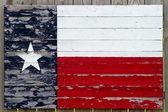 Painted Wood Texas Flag — Stock Photo