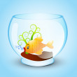 Illustration of a fishbowl — Stock Vector