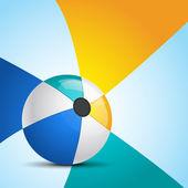 Illustratie van strandbal met achtergrond — Stockvector
