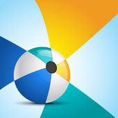 Ilustración de pelota de playa con fondo — Vector de stock