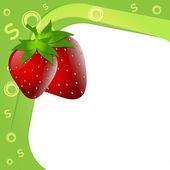 Illustration of alphabet S for strawberry — Stock Vector