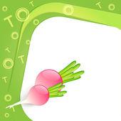 Illustration of alphabet T for turnip — Stock Vector