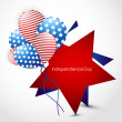 Illustration of 4th of july background — Stock Vector