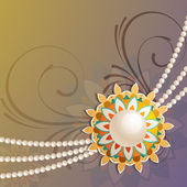 Beautiful background of rakhi on rakshabandhan festival — Vector de stock