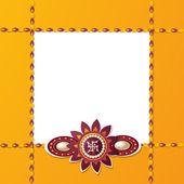 Illustration of beautiful rakhi on raksha bandhan festival with — 图库矢量图片