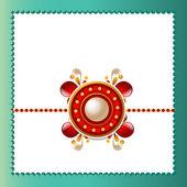 Hermoso fondo de rakhi en rakshabandhan festival — Vector de stock
