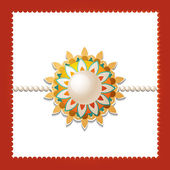 Beautiful background of rakhi on rakshabandhan — Stock Vector