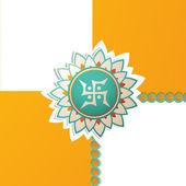 Beautiful rakhi background on rakshabandhan — Stock Vector