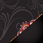 Beautiful rakhi background on rakshabandhan — Stock vektor