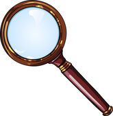 Antique magnifying glass — Stock Vector