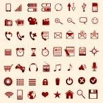 Red mobile Symbole — Stockvektor