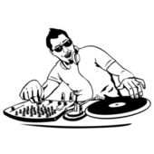 Vector DJ — Stock Vector