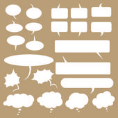 Talk and think vector bubbles — Stock Vector