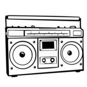 Vector tape recorder — Stock Vector