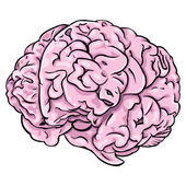 Vector cartoon brain — Stock vektor