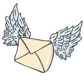 Vektor flygande kuvert — Stockvektor