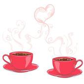 καφέ για τους λάτρεις — Διανυσματικό Αρχείο