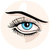 Vector female eye — Stock Vector