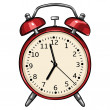 Stock Vector: Vector red alarm clock