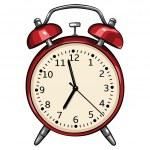 Vector red alarm clock — Stock Vector