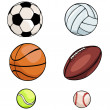 Stock Vector: Vector set of sports balls