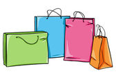 Vector shopping bag — Stock Vector