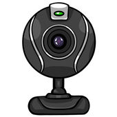 Vector black webcam — Stock Vector