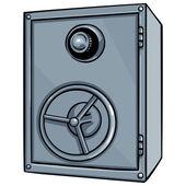 Vector cartoon safe — Stock Vector