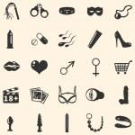 Vector sex shop icons — Stock Vector #29436383