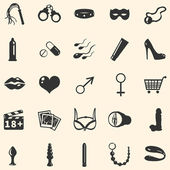 Vector sex shop icons — Stock Vector