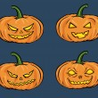 Vector halloween pumpkins — Stock Vector