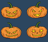 Vector halloween pumpkins — Vettoriale Stock