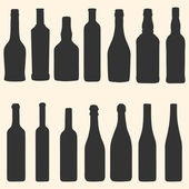 Vector bottles icons set — Stock Vector