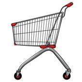 Vector trolley for shopping — Stock Vector