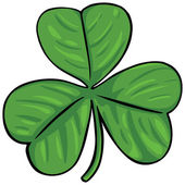 Vector green irish clover — Stock Vector