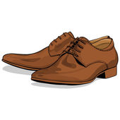 Vector classic light brown men shoes — Stock Vector