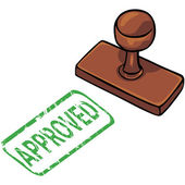Vector stamp: approved — Stock Vector