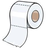 Vector cartoon toilet paper — Stock Vector