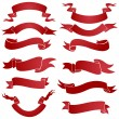Vector set of red gradient ribbons for your text — Stock Vector #31187863