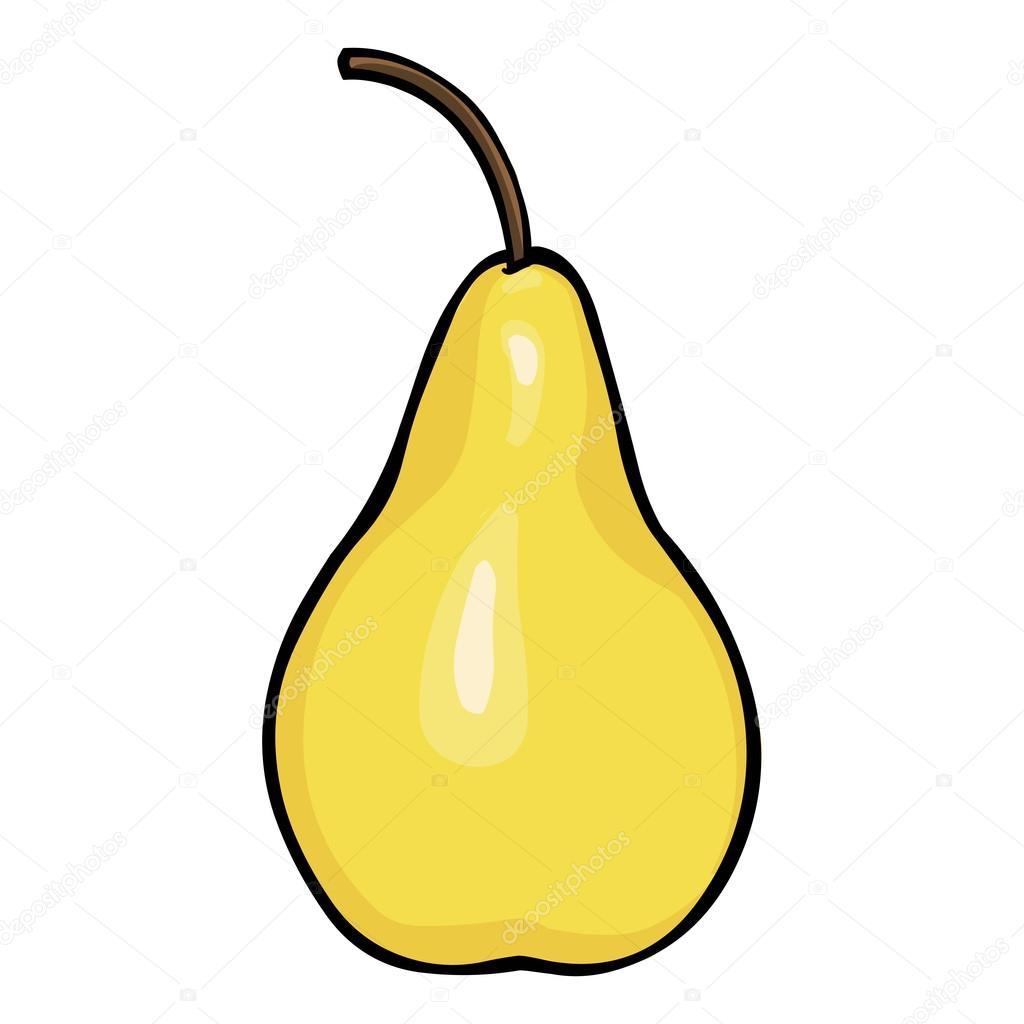 Depositphotos Stock Illustration Vector Cartoon Pear Of