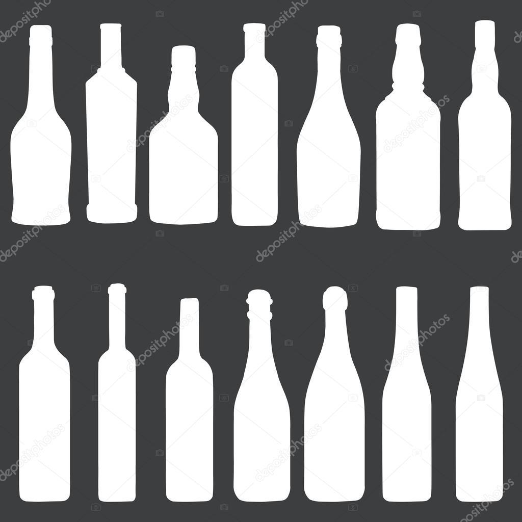 Бутылка 1 л белая