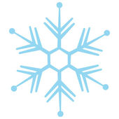 Vector isolated snowflake — Stock Vector
