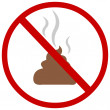 Vector sign: no shit — Stock Vector