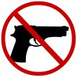 Stock Vector: Vector sign: no guns