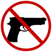 Vector sign: no guns — Stock Vector