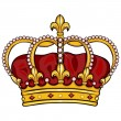 Vector cartoon royal crown — Stock Vector