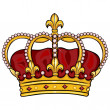 Vector cartoon royal crown — Stock Vector #32284831