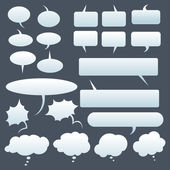 Talk and think vector gradient bubbles — Stock Vector